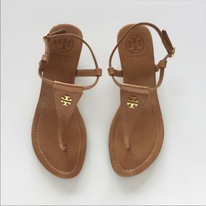 Tory Burch | 7.5 Tan Wedge Thong Sandal | lBritton